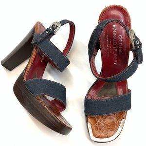 Donald Pliner Couture wood heels